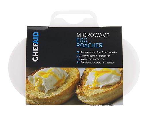Chef Aid - Escalfador de Huevos para microondas: Amazon.es: Hogar