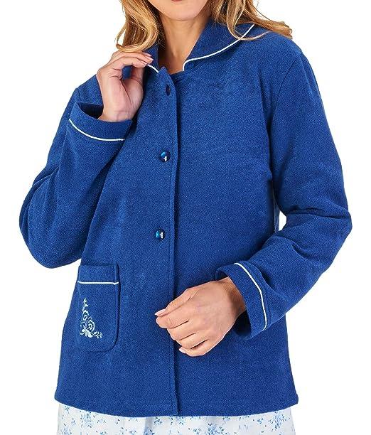 Amazon.com: Slenderella - Chaqueta de cama con botones para ...