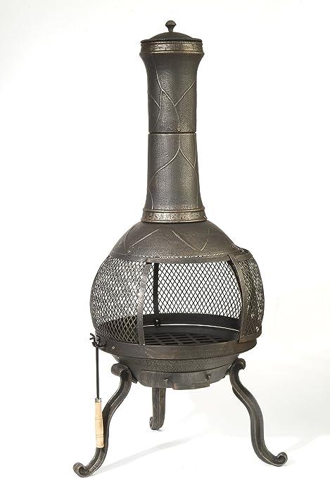 Amazon Com Deckmate Sonora Outdoor Chimenea Fireplace Model 30199 Kay Outdoor Fireplace Garden Outdoor