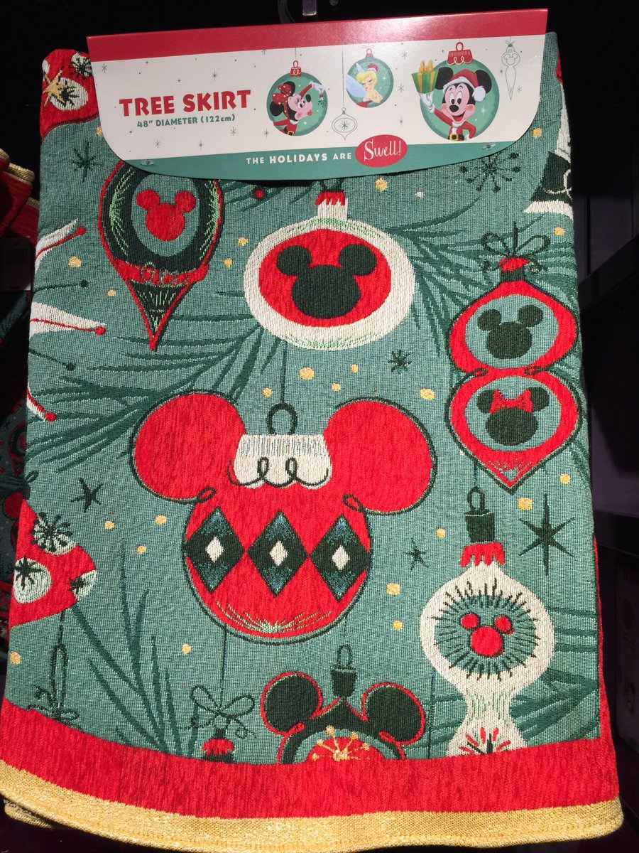 Amazon.com : Disney Park Mickey Mouse Ornament Retro Christmas Holiday Tree  Skirt : Everything Else