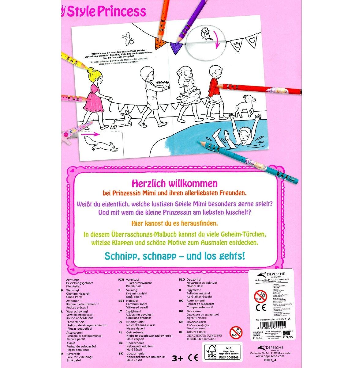Depesche Prinzessin Mimis überraschungs Malbuch Neu Amazon De