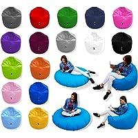 Patchhome 2 in 1 Funktion Sitzsack Sitzkissen Bean Bag - 125cm Durchmesser - In & Outdoor geeignet fertig befüllt in verschiedene Farben erhältlich