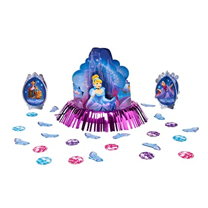 Amazon American Greetings Cinderella Disney Princess Birthday Party Table Decorating Kit 23 Pack Blue Pink Toys Games