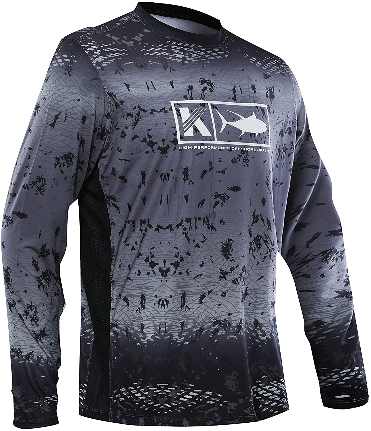 Performance Vented Fishing Shirt Long Sleeve Shirt Mesh Side Vents UPF 50 Dye Sublimation Print