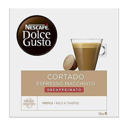 NESCAFÉ Dolce Gusto Café Cortado descafeinado | Pack de 16 Cápsulas