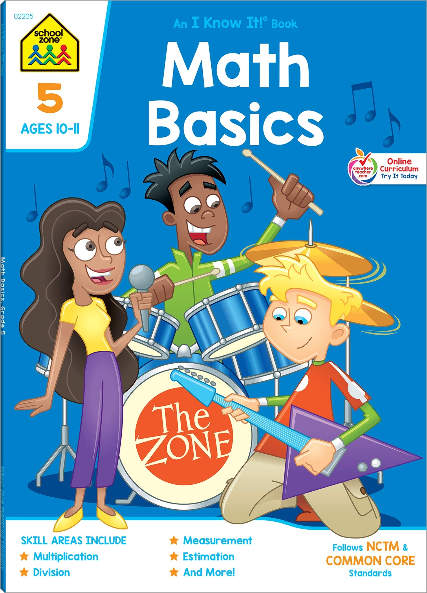 School Zone - Math Basics 5 Deluxe Edition Workbook, Ages 10 to 11, Dividing Fractions, Order of Operations, Perimeter and Area, Multiplication, Metric Units, and More ebook