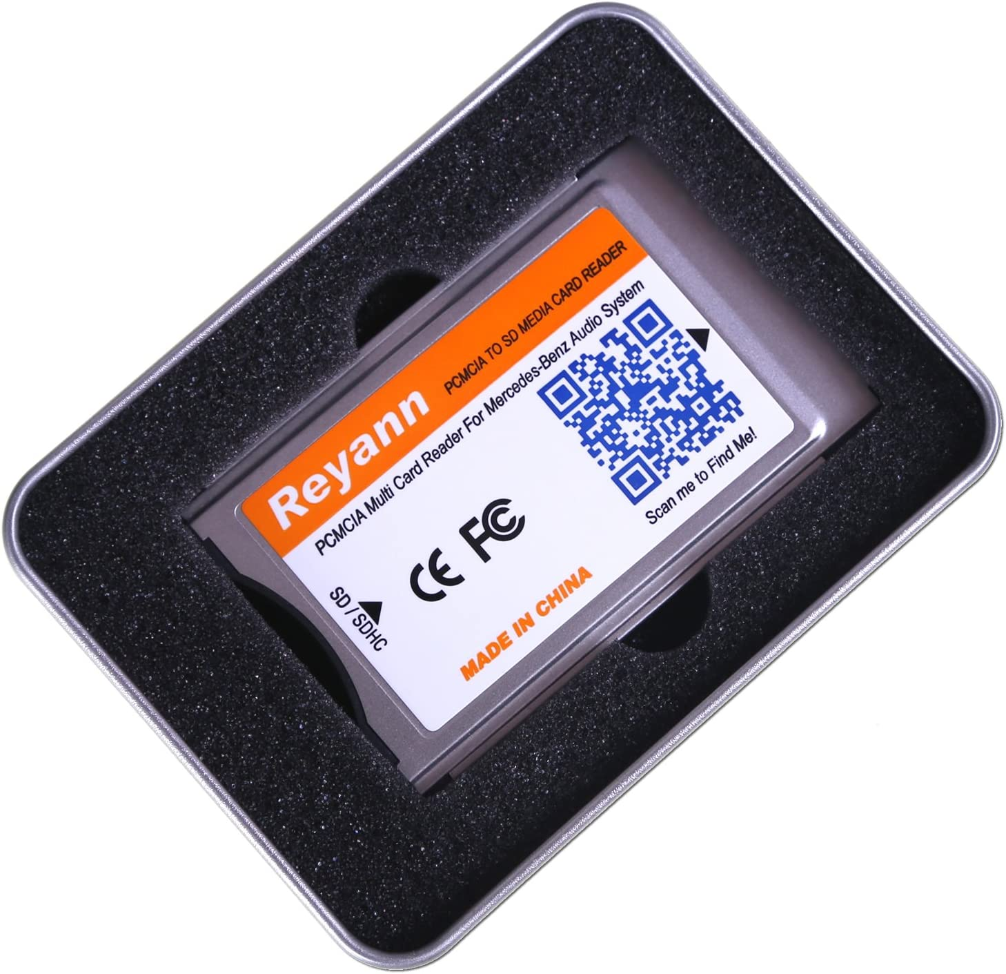 Hikig Adaptateur PCMCIA vers carte SD Mercedes-Benz Comand APS C197 W212 W204 W221 W207 avec slot PCMCIA Support max Carte SDHC 32 Go