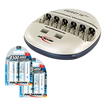 Ansmann Energy 16 Plus - Cargador de batería para AA AAA C D ...