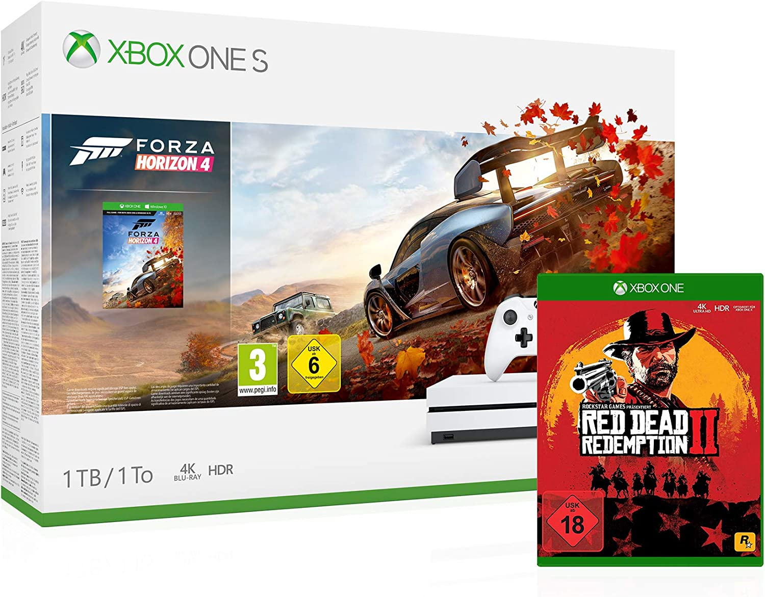 Xbox One S 1TB Forza Horizon 4 Bundle + Red Dead Redemption 2 ...