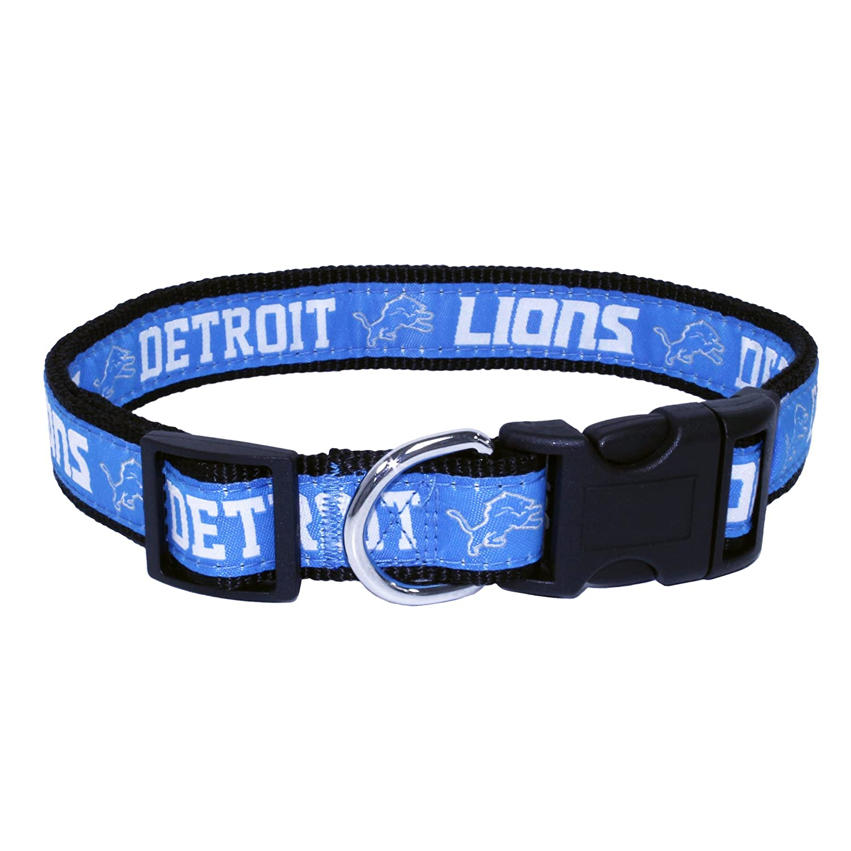 5aaf8c390fd Amazon.com : Pets First NFL Detroit Lions Pet Collar, Large : Pet Supplies