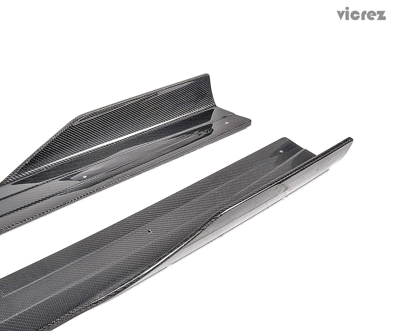 Vicrez VZ Carbon Fiber Side Skirts Splitters vz100795 for Ferrari 458 Italia 2011-2013