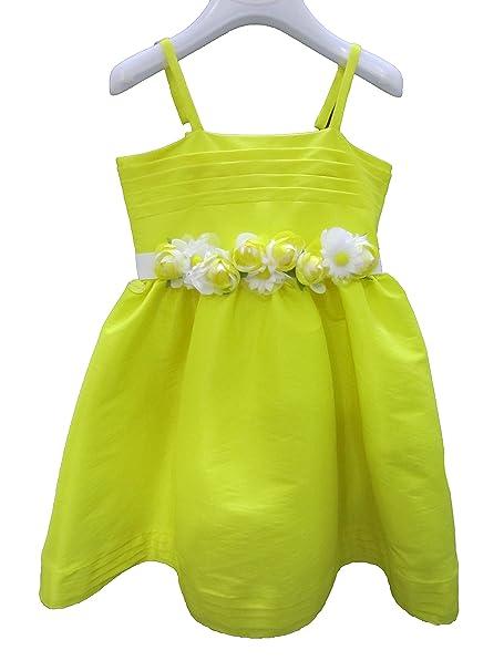 wholesale dealer c7d39 7703c Vestito abito da cerimonia bambina Byblos giallo in ...