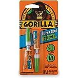 Gorilla Super Glue Gel, Two 3 Gram Tubes, Clear