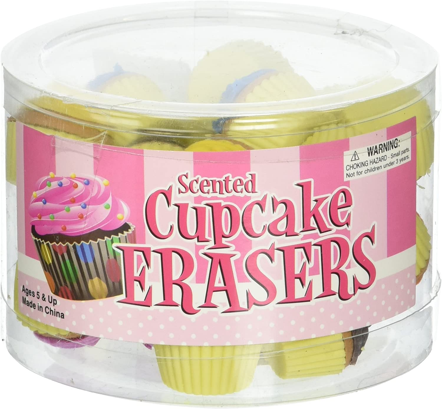 Oasis Supply Scented Cupcake Erasers Toy (24 Piece), 1-Pack (RN STECUPC)