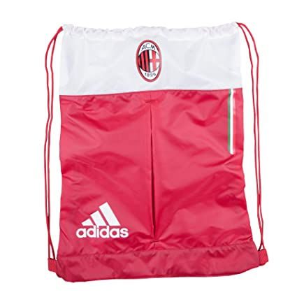 adidas AC Milan Soccer Futbol Drawstring Backpack Sackpack
