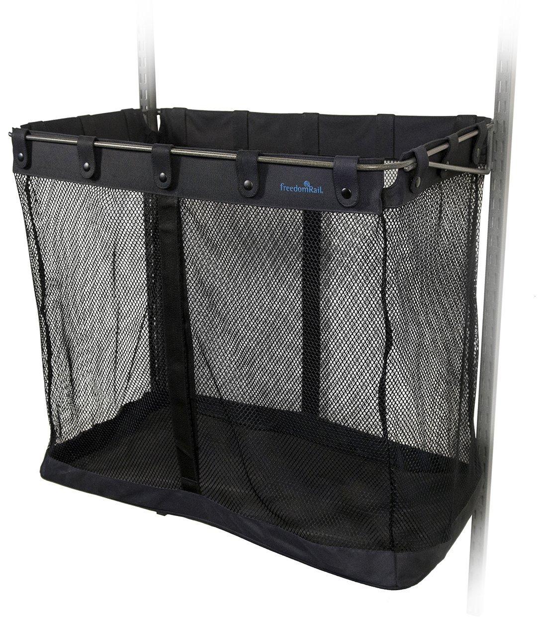 K&A Company freedomRail Garage Big Mesh Sports Basket, 26'' x 16'' x 15 lbs