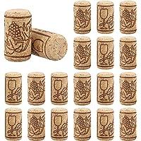 Hemoton Rolhas de Cortiça Reta Premium Com 100 Contagens Excelente para Vinho Engarrafado
