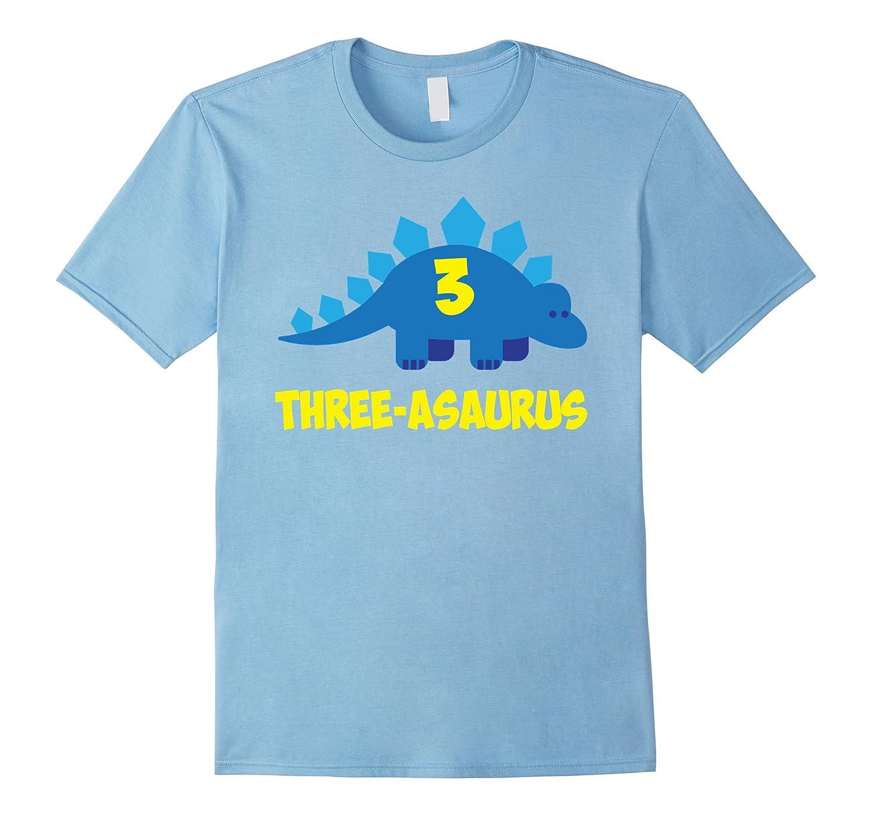 Three Asaurus 3rd Birthday Shirt Year Old Boy Or Girl RT
