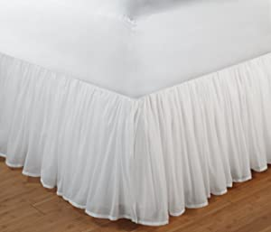 Green Land Cotton Voile White Bed Skirt 18