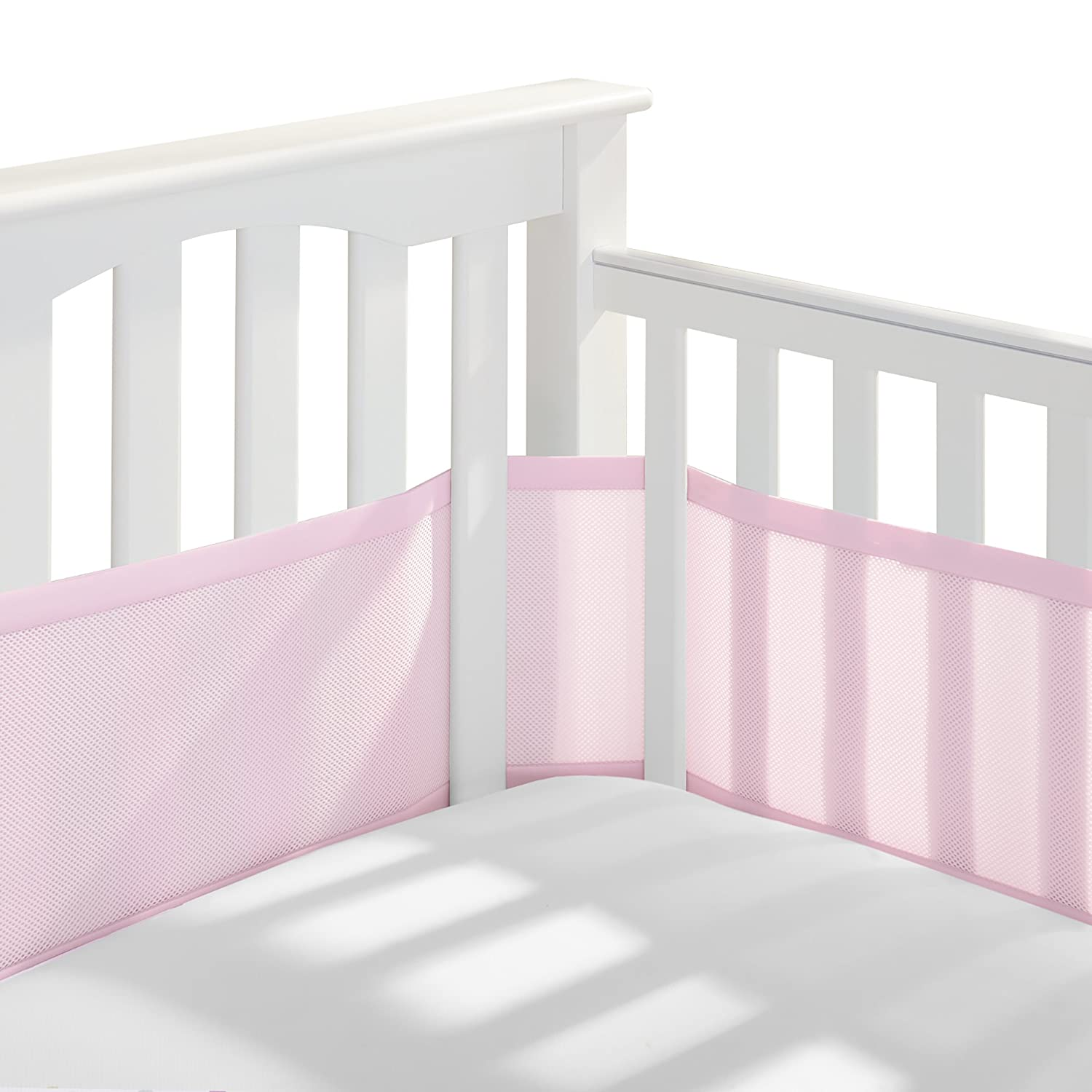 Amazon Com Breathablebaby Classic Breathable Mesh Crib Liner Light Pink Crib Bumpers Baby