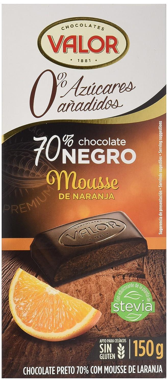 Chocolates Valor Chocolate 70% Cacao, con Mousse de Naranja, Sin Azúcar - 150 gr: Amazon.es: Amazon Pantry