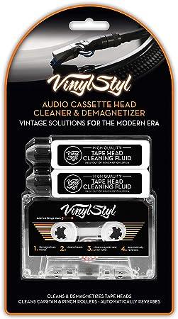 Limpiador y desmagnetizador de cabeza de casete de vinilo.: Amazon.es: Electrónica