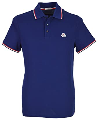67ecee1bb274 Moncler Men`s Polo Shirt - Navy Blue (Large)  Amazon.co.uk  Clothing
