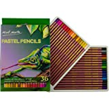 MONT MARTE Pastel Pencils 36 Colours Set - 36pce - Pastel colours for colourful and expressive drawings