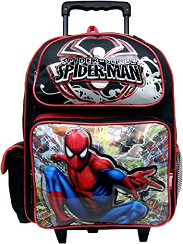 Spiderman Large Rolling Backpack 80062