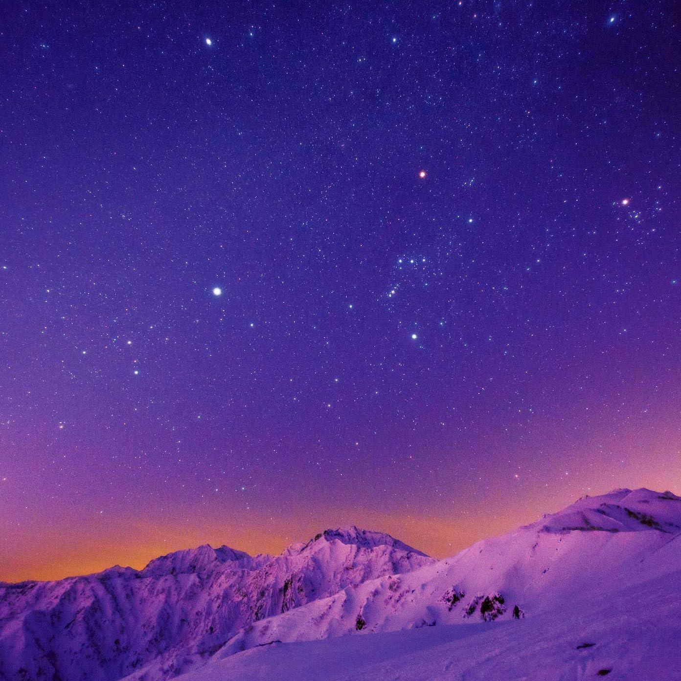 星空 Ipad壁紙 白馬方尾根から望む残照の星空 その他 スマホ用画像132513