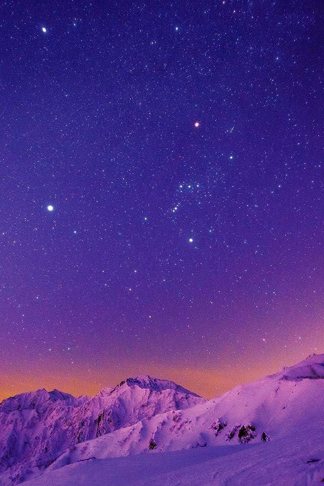 星空 iPhone(640×960)壁紙 白馬方尾根から望む残照の星空 その他