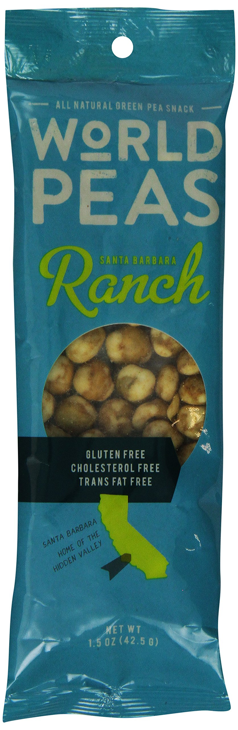 World Peas Santa Barbara Ranch Green Pea Snack, 1.5 Ounce (Pack of 12)