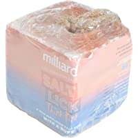 Milliard 4.9 lbs Himalayan Salt Lick For Horses, Deer, and Livestock – 4.9lb Cube With Rope