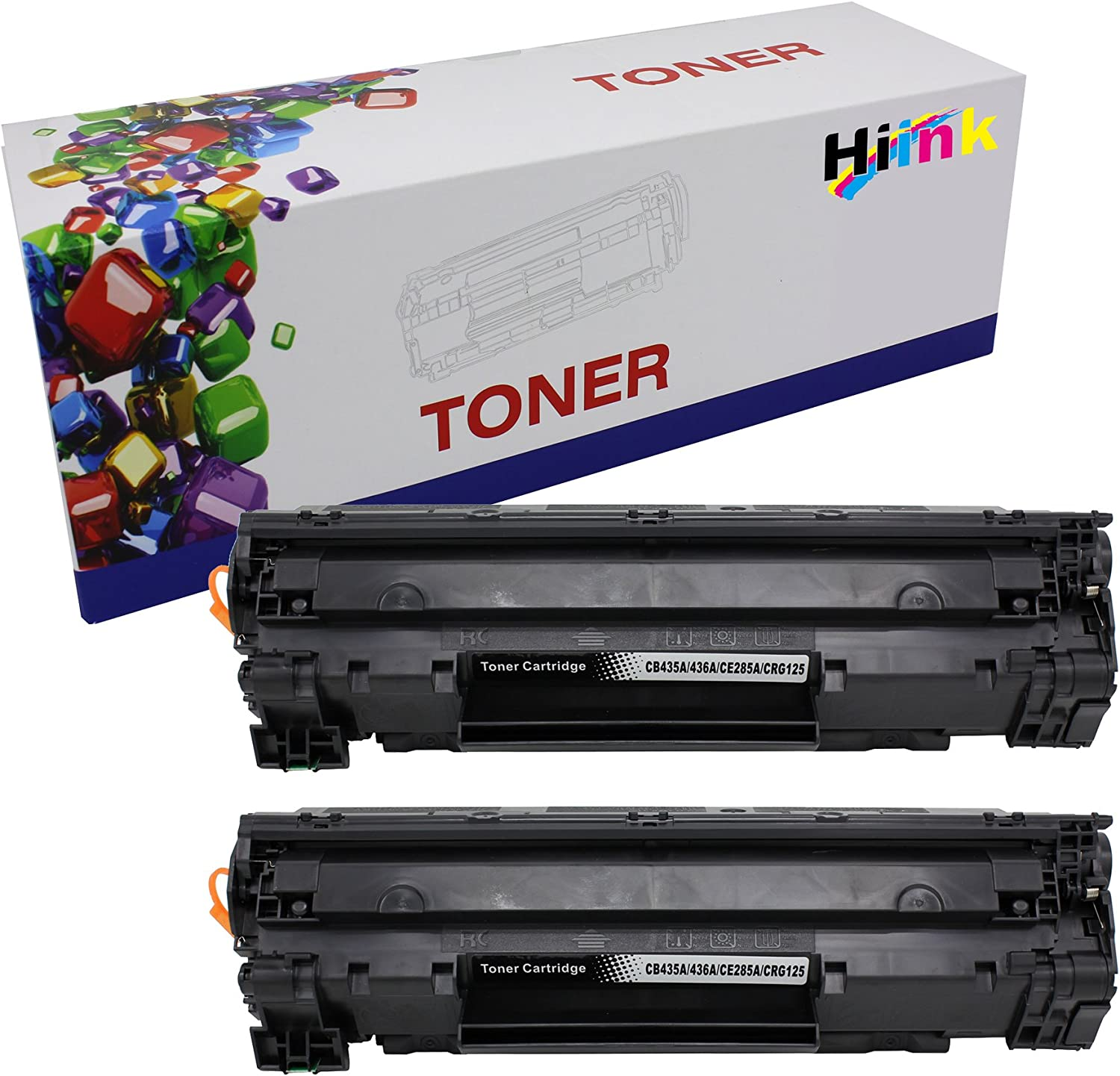 Hi Ink 2 Pack CE285A 85A Toner Cartridge-Black for for Laserjet Pro M1132, M1212nf, M1217nfw and P1102w
