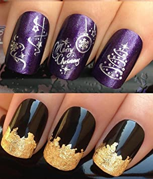 Christmas Nail Art Set Decals Water Transfers Stickers Choice Of