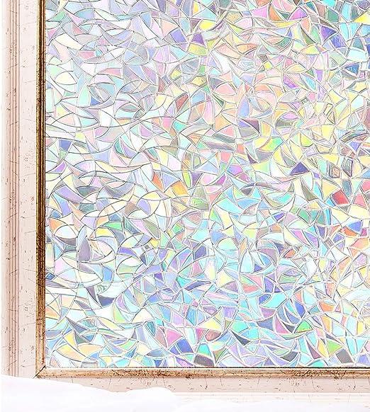 Cottoncolors Film Adhésif Décoratif Pour Fenêtre Vitrage 3d Statique Autocollant Anti Regards Protection Dintimité Pour Accueil Cuisine Bureau