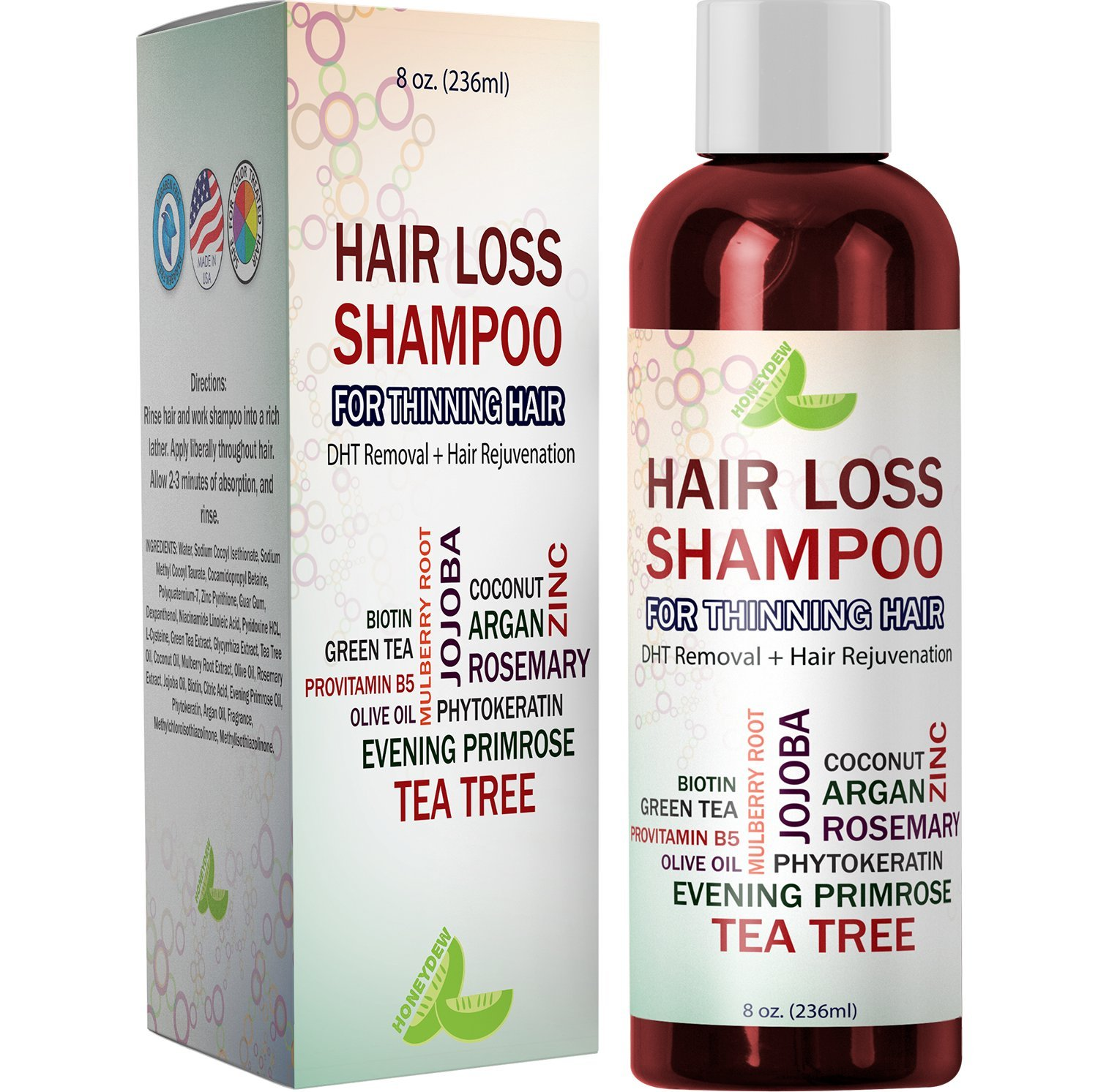 Best Hair Loss Shampoo Potent Hair Loss Fighting Formula Topical Regrowth Treatment Restores Hair Stops Hair Shedding Contains Biotin Rosemary Coconut Oil For Women and Men: Beauty