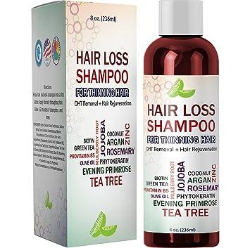 Amazon.com: El mejor champú para pérdida de cabello, fórmula ...