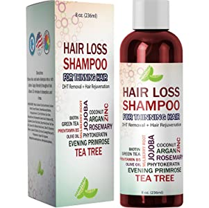 Best Hair Loss Shampoo Potent Hair Loss Fighting Formula Topical Regrowth Treatment Restores Hair Stops Hair Shedding Contains Biotin Rosemary Coconut Oil For Women and Men