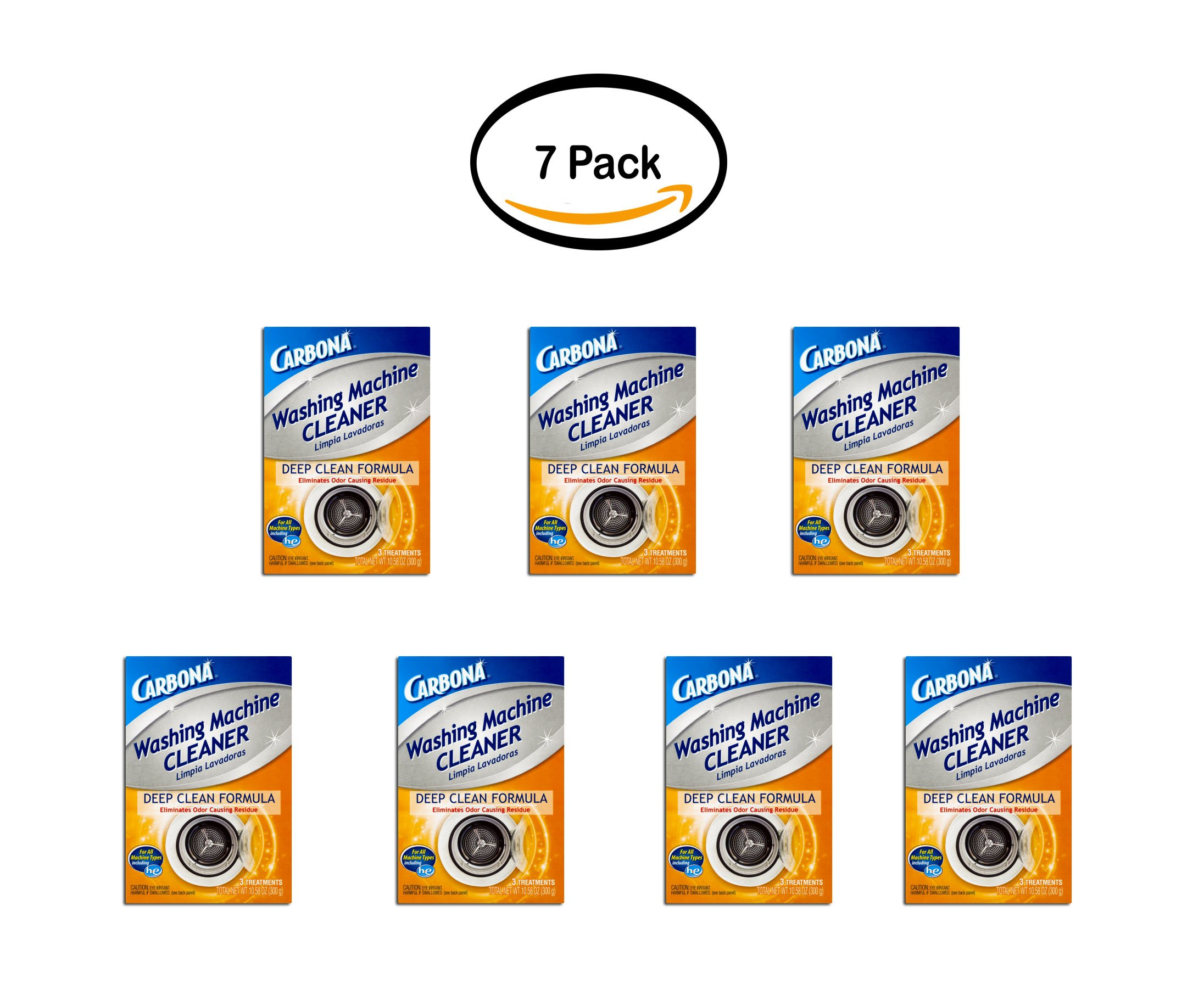 PACK OF 7 - Carbona Washing Machine Cleaner, 3 Count