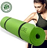 IEOKE Yoga mat non slip Exercise mat with carry strap light weight for Exercise, Yoga and Pilates for women(6.5mm)