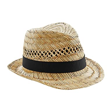 573f7d00 Beechfield Unisex Straw Summer Trilby Hat: Amazon.co.uk: Clothing