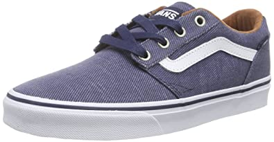 Vans Chapman Stripe, Sneakers Basses Homme, Bleu (T&L/Dress Blues/White), 39 EU (6 UK)