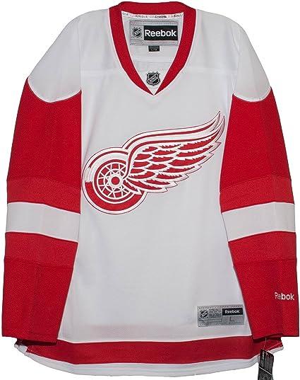 online store 605a4 9acae Reebok Detroit Red Wings Road White Premier Men's Jersey