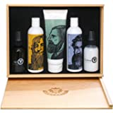 Beardsley In The Box Beard Care Gift Set - Full Size Bottles - Beard Essentials - Shampoo, Conditioner, Lotion and Oil