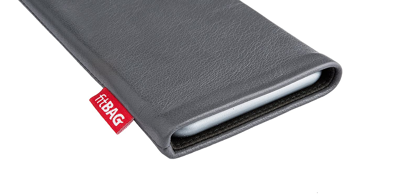 fitBAG Beat Noir en Cuir Nappa int/érieur Pochette customis/ée adapt/ée Housse de Protection pour Samsung S5610 Doublure en Microfibre pour Le Nettoyage de l/'/écran Fabriqu/é en Allemagne
