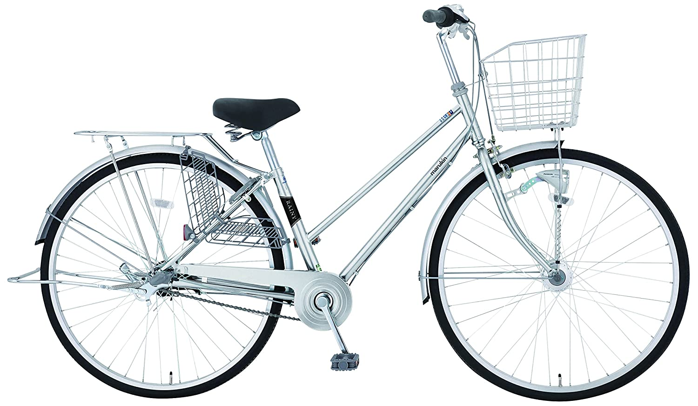 marukin(マルキン) 完全組立 27インチ自転車 LEDオートライト シマノ製内装3段ギア シルバー MK-18-014 B0781YW19S