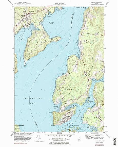 Amazon Com Yellowmaps Castine Me Topo Map 1 24000 Scale 7 5 X