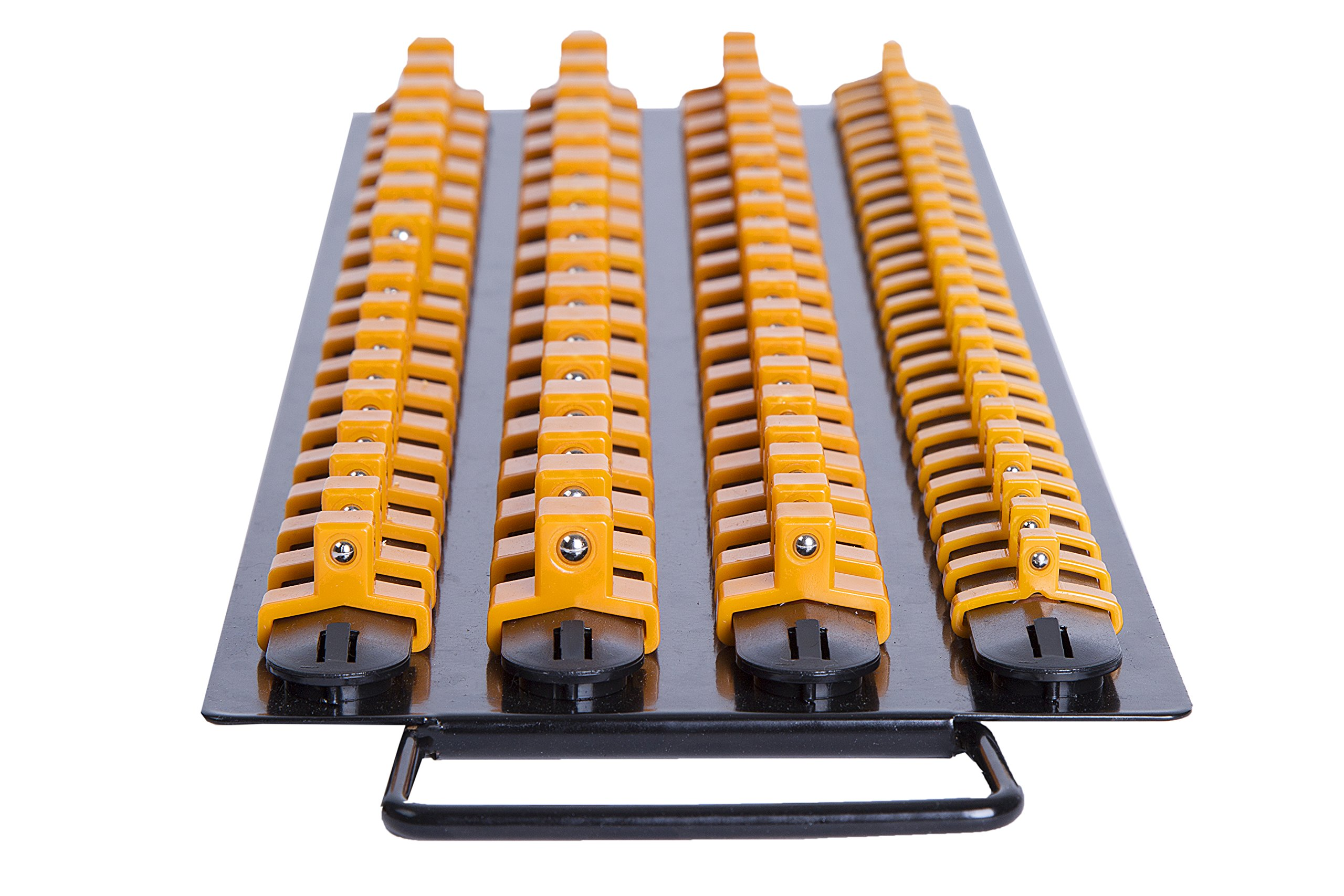 Inertia Tools 80 Piece Socket Organizer Tray - Holder 20 x 1/4'' drive, 30 x 3/8'' drive, 30 x 1/2'' drive