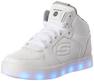 timeless design bc920 cd6e5 Skechers Kids Boys Energy Lights Sneaker,1 M US Little Kid,White